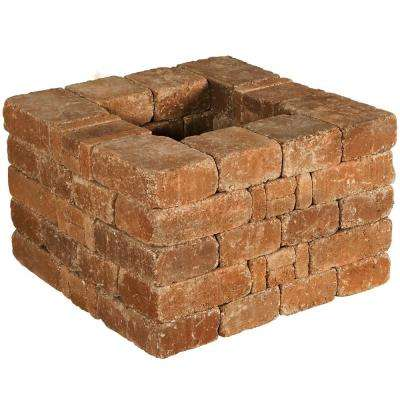 RumbleStone 28 in x 17.5 in. x 28 in. Square Concrete Planter Kit in Sierra Blend