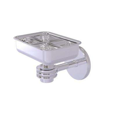 Satellite Orbit One Wall Mounted Soap Dish with Dotted Accents in Polished Chrome