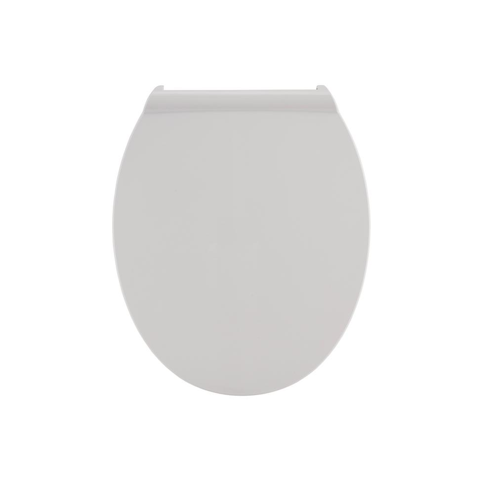 Fluent Round Slow Closed Front Toilet Seat in White