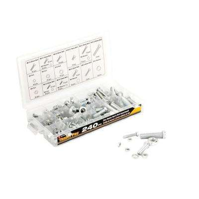 Zinc Metric Nut and Bolt Assortment (240-Piece)