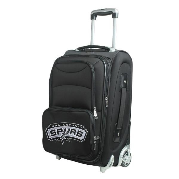Denco NBA San Antonio Spurs 21 in. Black Carry-On Rolling Softside Suitcase