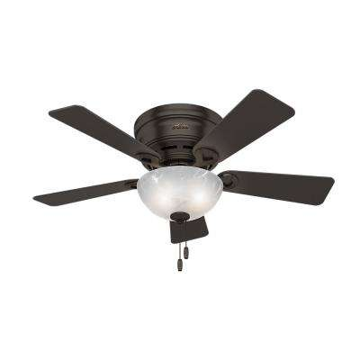 Haskell 42 in. LED Low Profile Indoor Premier Bronze Ceiling Fan