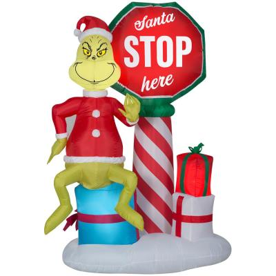 Grinch Outdoor Christmas Decorations Christmas Decorations The Home Depot