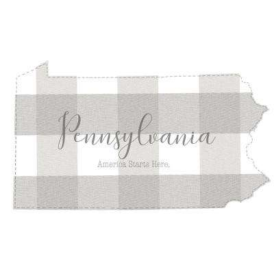 Beige Pennsylvania Wall Decal