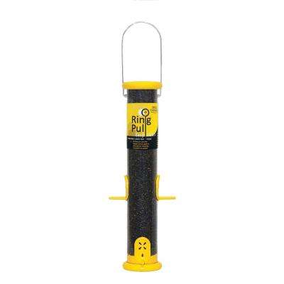 15 in. Ring Pull Nyjer Plastic Seed Finch Bird Feeder