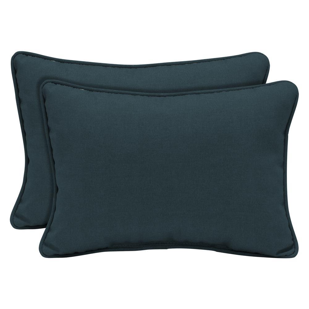 Arden Selections Atlantis Woven Outdoor Lumbar Pillow (2-Pack)