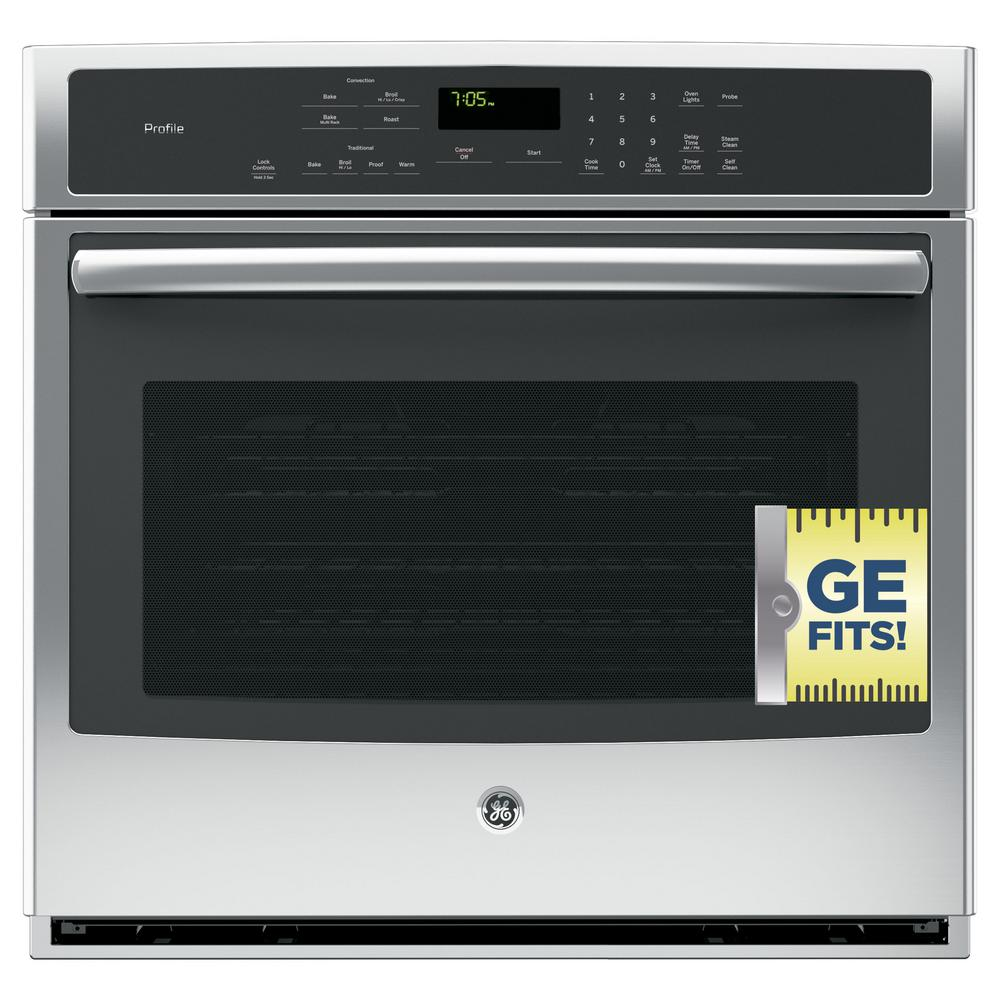 Ge Profile 30 In Single Electric Wall Oven Self Cleaning
