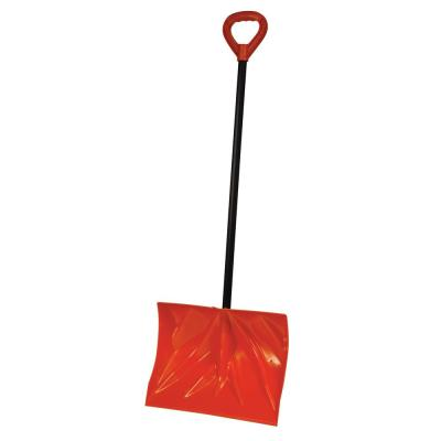 Bigfoot 18 in. Poly Combination Snow Shovel with Steel Core Handle