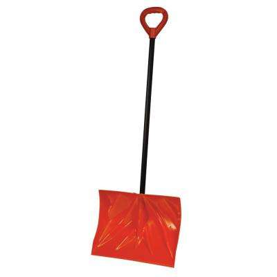 Bigfoot Series 18 in. Poly Combination Snow Shovel with Steel Core Handle