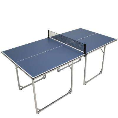 72 in. x 36 in. Folding Indoor Table Tennis Table with Net