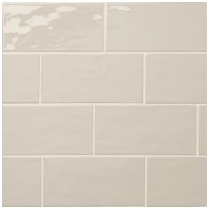 LuxeCraft Taupe 4 in. x 8 in. Glazed Ceramic Subway Wall Tile (10.5 sq. ft. / case)
