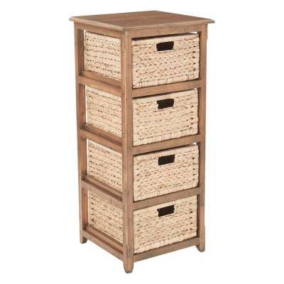 Sheridan Distressed Toffee 4-Drawer Storage