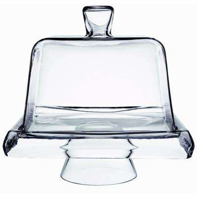 13.5 in. High x 11.5 in. Wide Square Cake Plate Set
