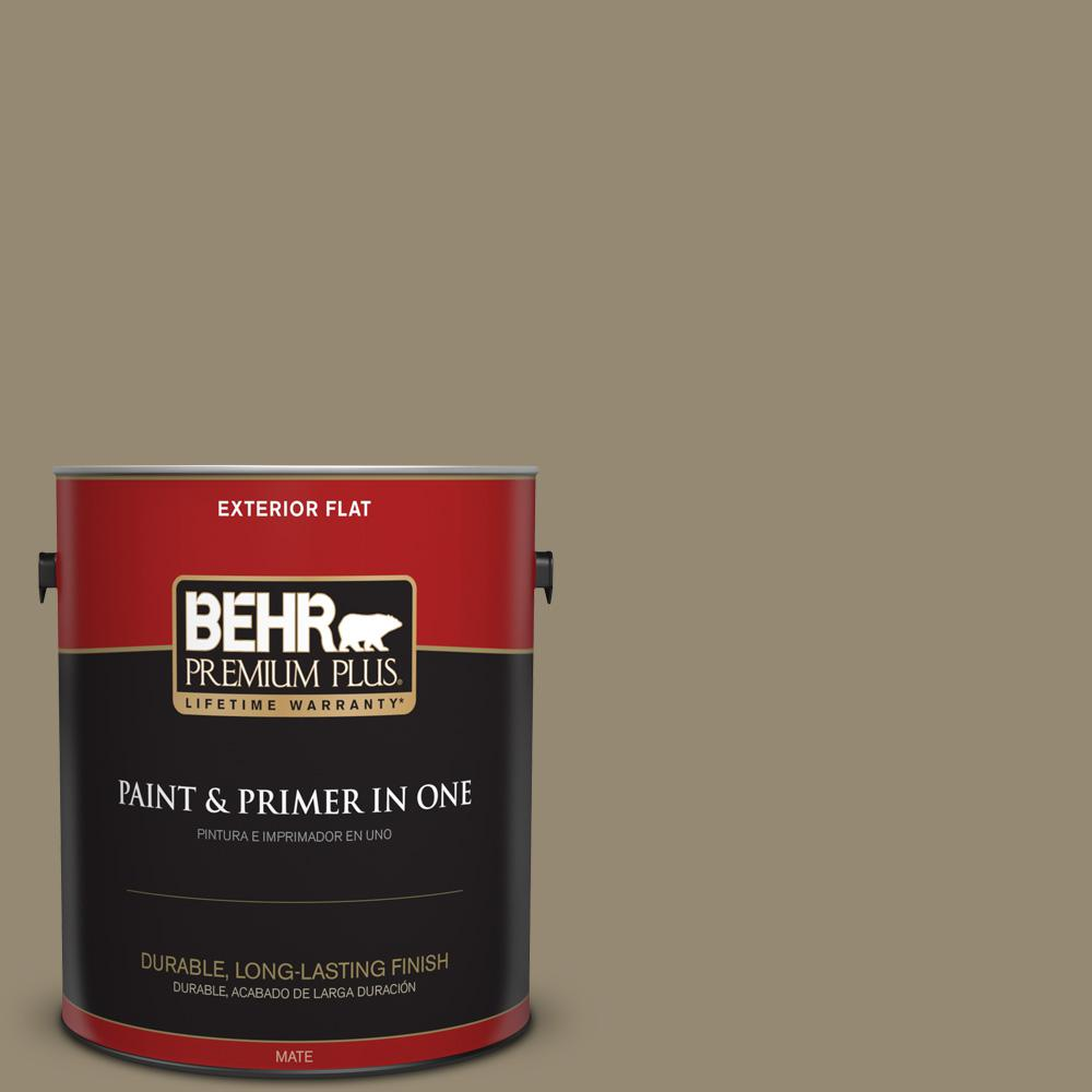 1 gal. #PPU8-03 Dry Pasture Flat Exterior Paint
