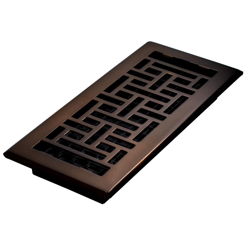 Decor Grates 4 in. x 10 in. Steel Floor Register, Oil-Rubbed Bronze