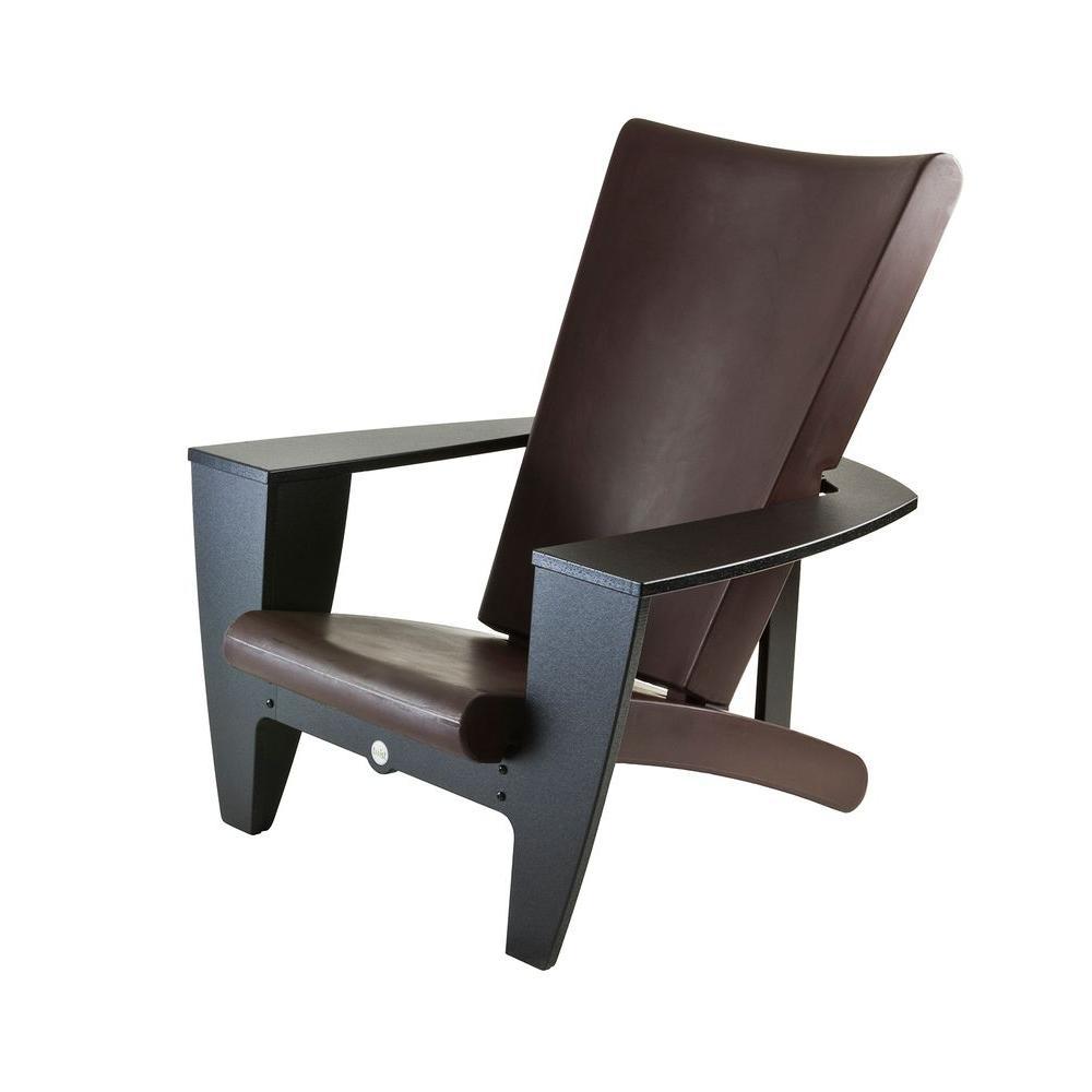 Filament Design Twist Productions Mocha and Black Patio Chair