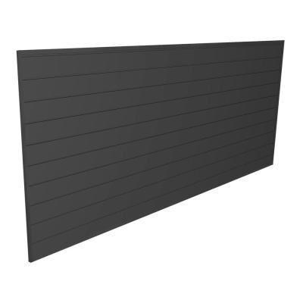 PVC Slatwall 8 ft. x 4 ft. Charcoal