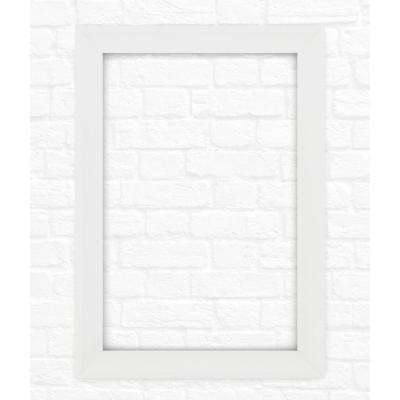 33 in. x 47 in. (L1) Rectangular Mirror Frame in Matte White