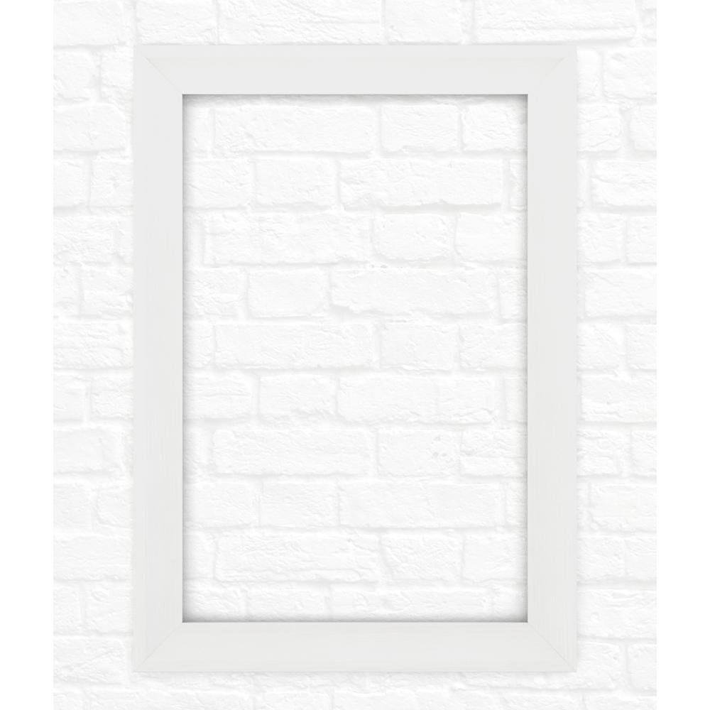 33 in. x 47 in. (L1) Rectangular Mirror Frame in Matte White