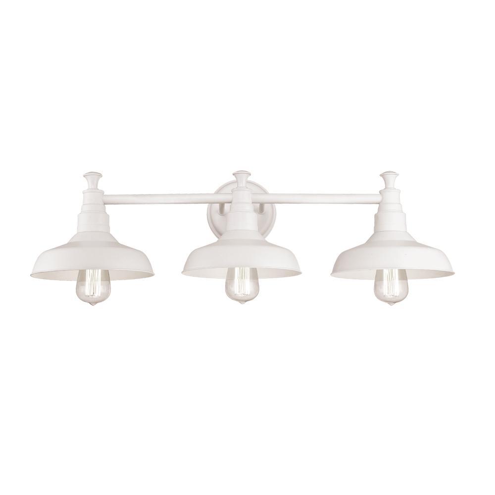 Kimball 3-Light White Vanity Light