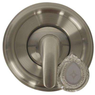 1-Handle Valve Trim Kit for MOEN Tub/Shower in Brushed Nickel