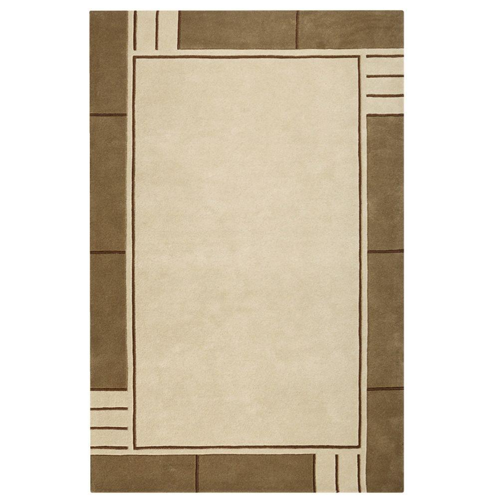 Home Decorators Collection Plaza Beige and Brown 3 ft. 6 in. x 5 ft. 6 in. Area Rug