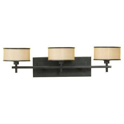 Casual Luxury 3-Light Dark Bronze Vanity Light