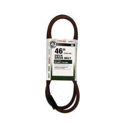 46 in. Deck Drive Belt for Lawn Mowers 1999 thru 2003 Replaces OE# 954-0486, 954-0486A, 754-0486, and 754-0486A