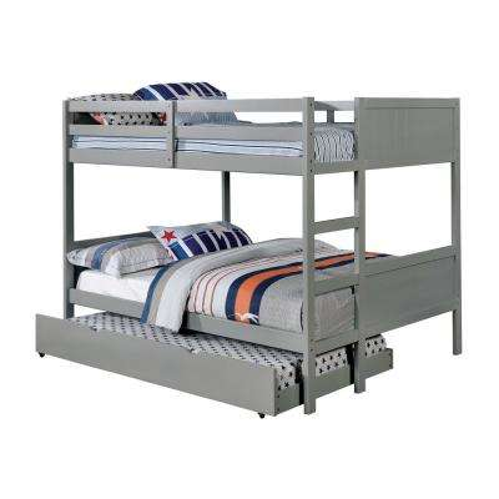 Annette Full Bunk Bed in Gray