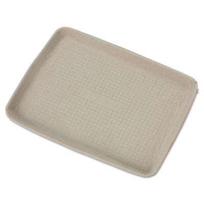 StrongHolder 9 in. x 12 in. x 1 in. Molded Fiber Food Trays, Beige, 250 Per Case