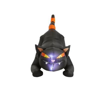 4 ft. Black Cat with Orange Striped Tail Halloween Inflatable