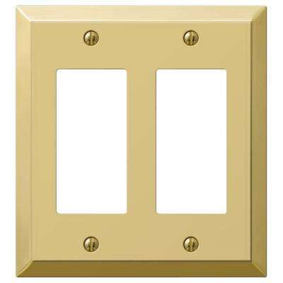 Steel 2 Decora Wall Plate - Bright Brass