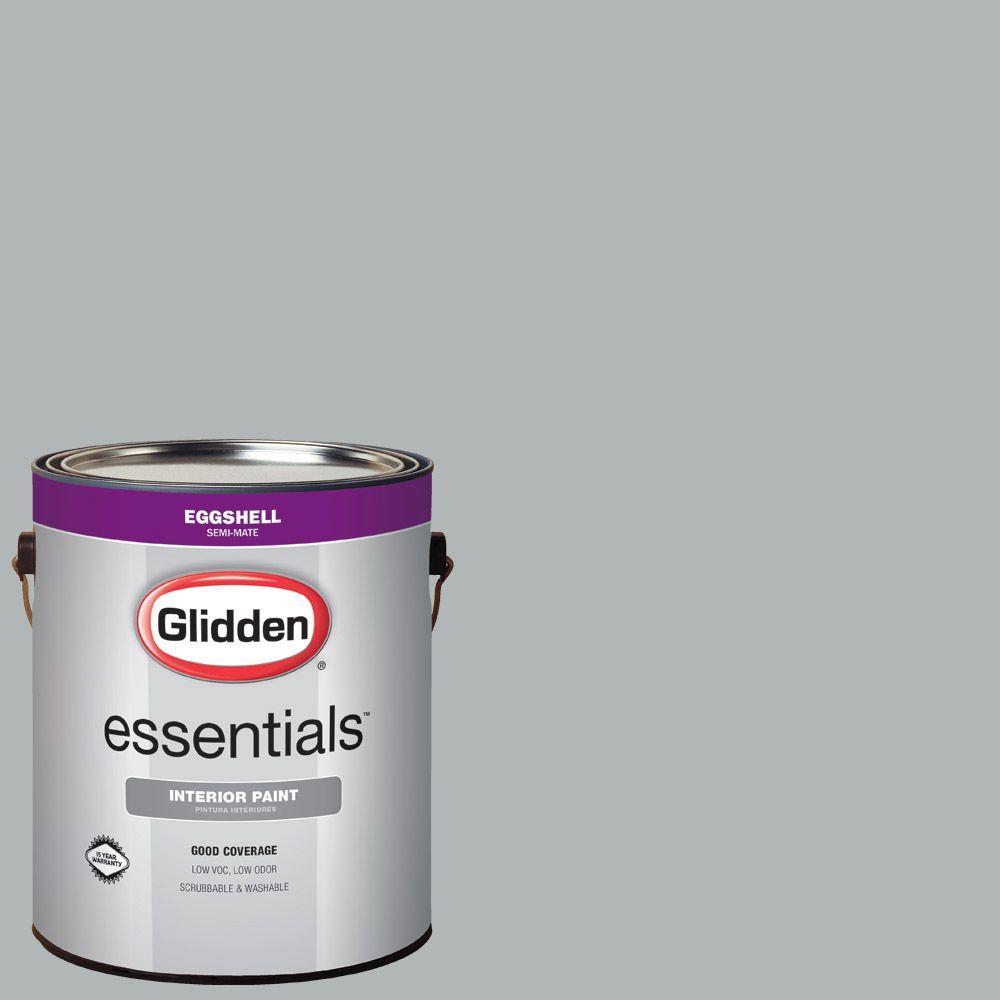 Glidden Essentials 1 gal. #HDGCN37 Medici Grey Eggshell Interior Paint