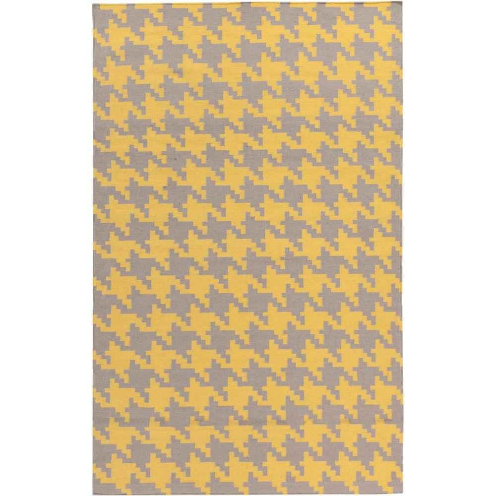 Annu Yellow 2 ft. x 3 ft. Flatweave Accent Rug