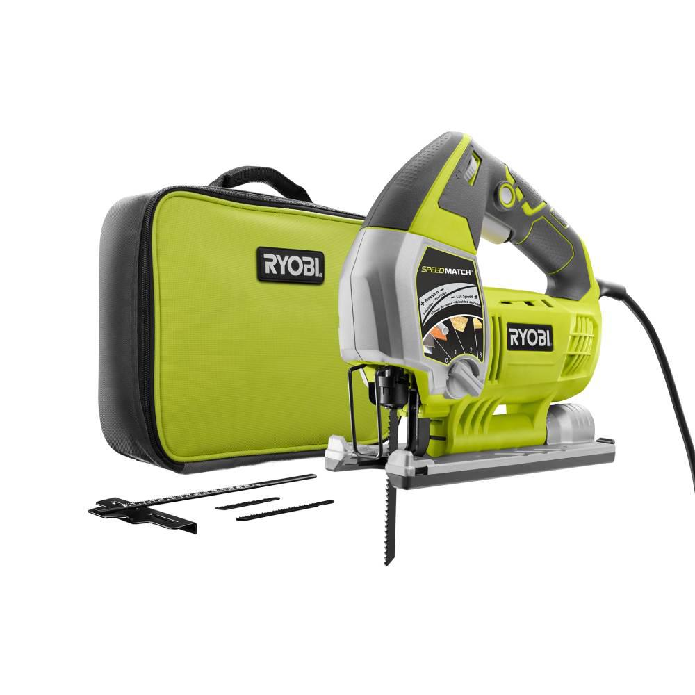 RYOBI 6.1 Amp Corded Variable Speed Orbital Jig Saw with SPEEDMATCH Technology