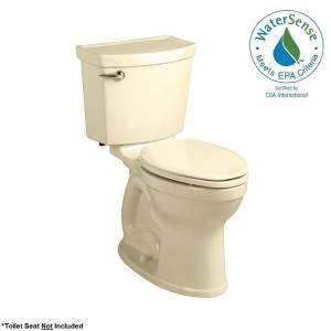 American Standard Champion 4 Max Tall Height 2-piece High-Efficiency 1.28 GPF Single Flush Round Toilet in Bone by American Standard