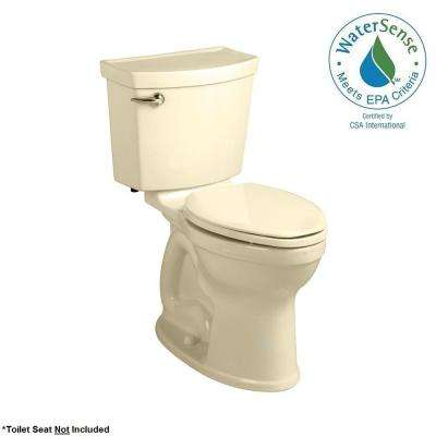 Champion 4 Max Tall Height 2-piece High-Efficiency 1.28 GPF Single Flush Round Toilet in Bone, Seat Not Included