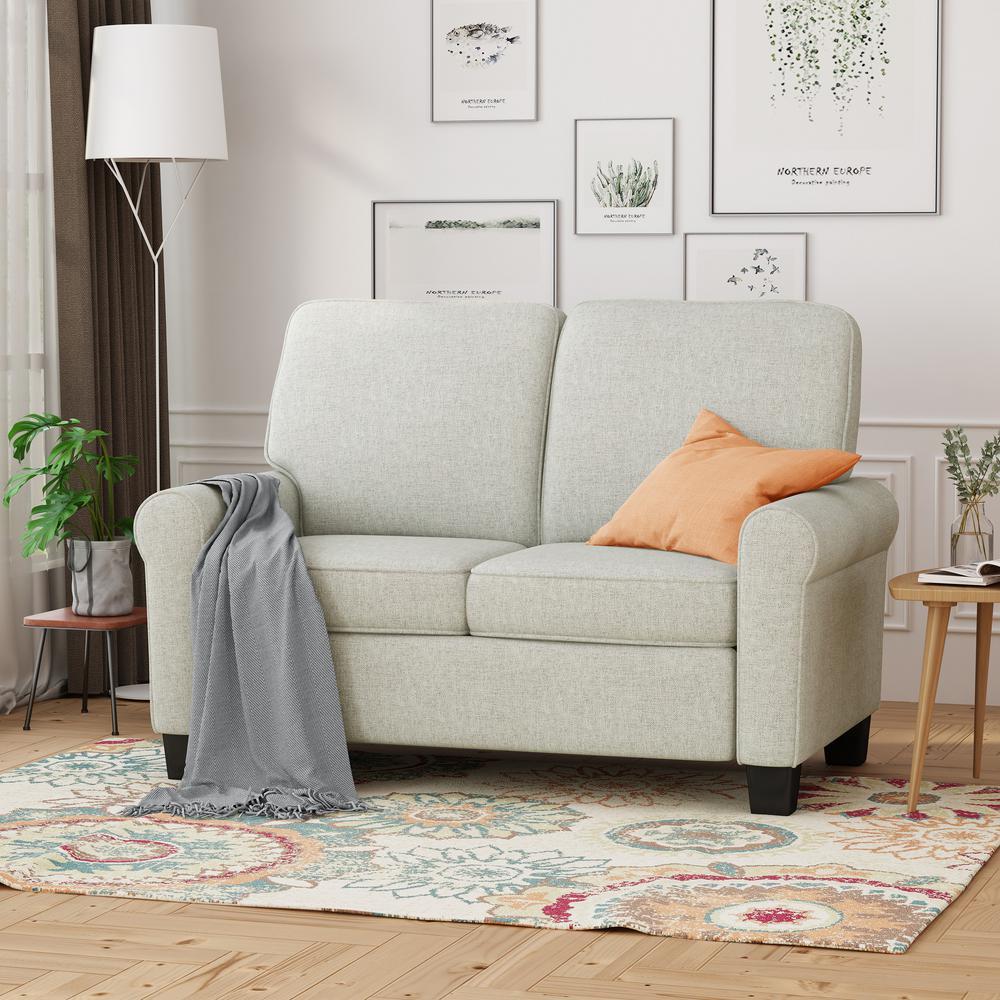 Tremendous Noble House Bernietta Mid Century Modern Light Gray Fabric Machost Co Dining Chair Design Ideas Machostcouk