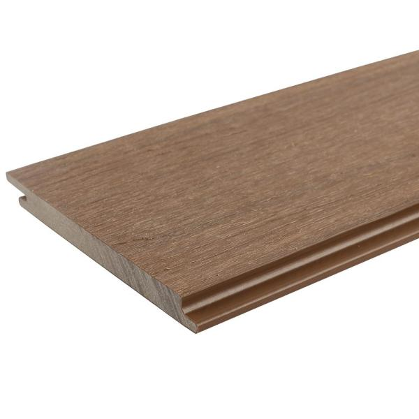 All Weather System 5.5 in. x 96 in. Composite Siding Board in Peruvian Teak