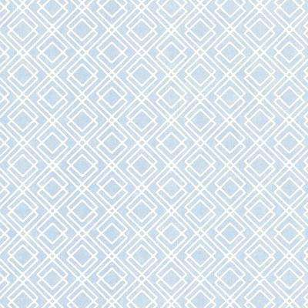 Milly Blue Lattice Wallpaper Sample