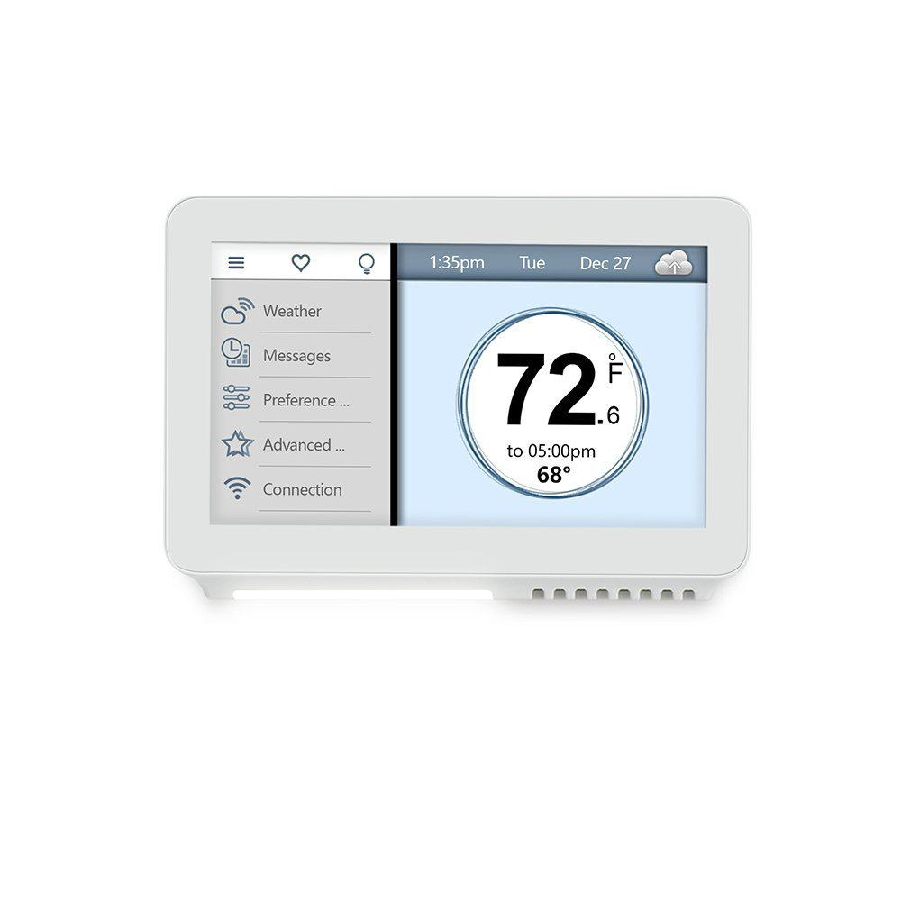 7-Day Programming Smart Thermostat with Touchscreen and App Control