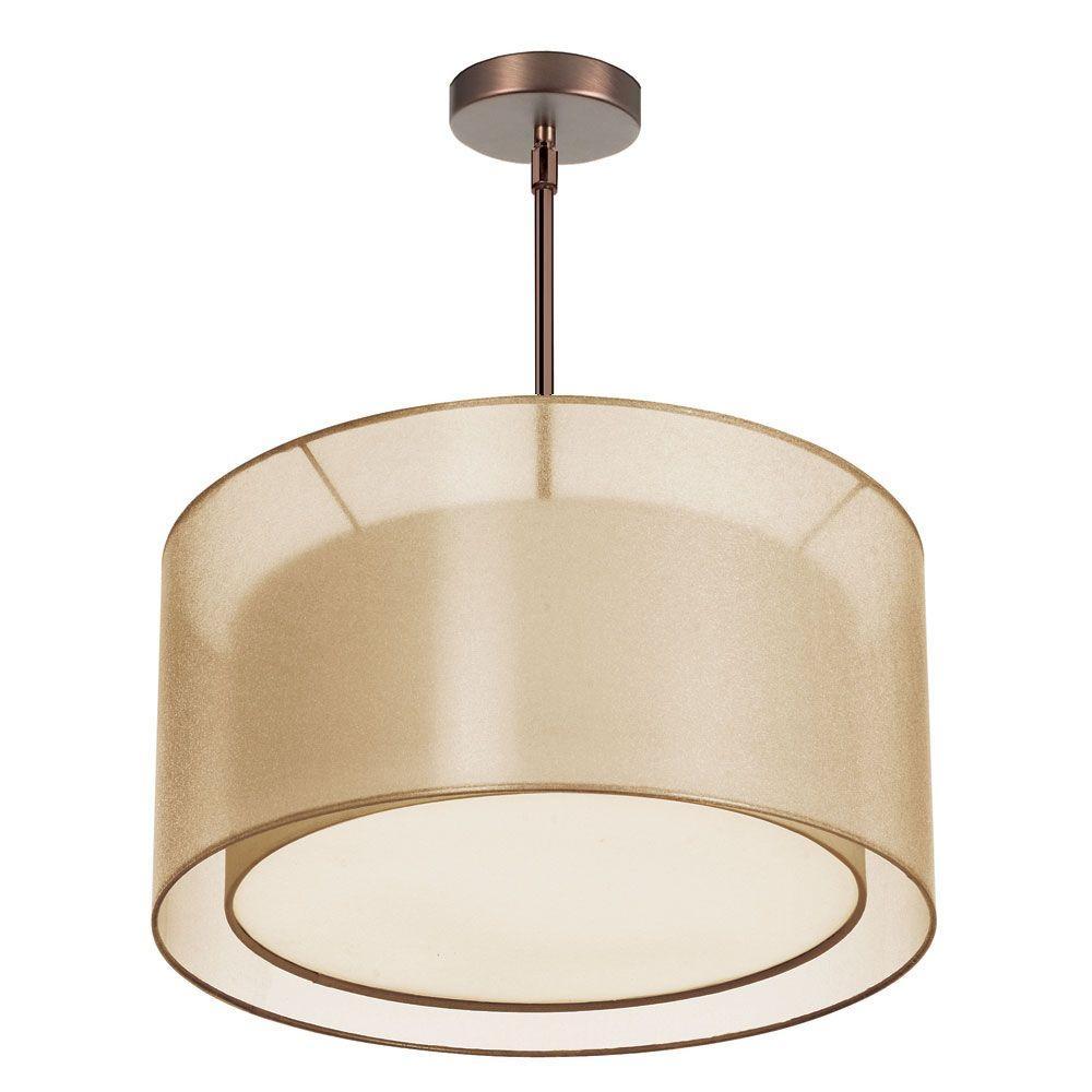 Filament Design Catherine 3-Light Oil Brushed Bronze Pendant