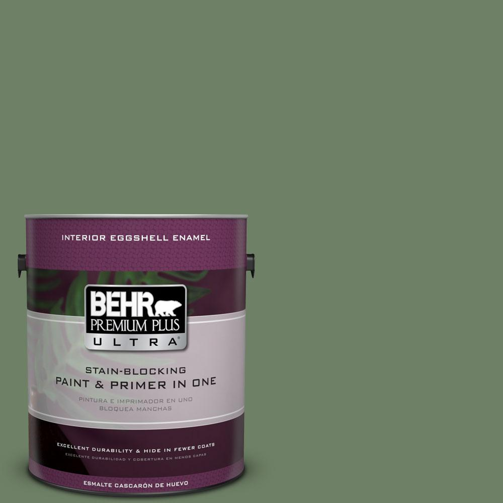 BEHR Premium Plus Ultra 1-gal. #S390-6 Cliffside Park Eggshell Enamel Interior Paint