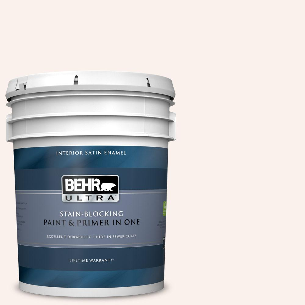 Behr Ultra 5 Gal Rd W09 Shea Satin Enamel Interior Paint And Primer In One 775005 The Home Depot