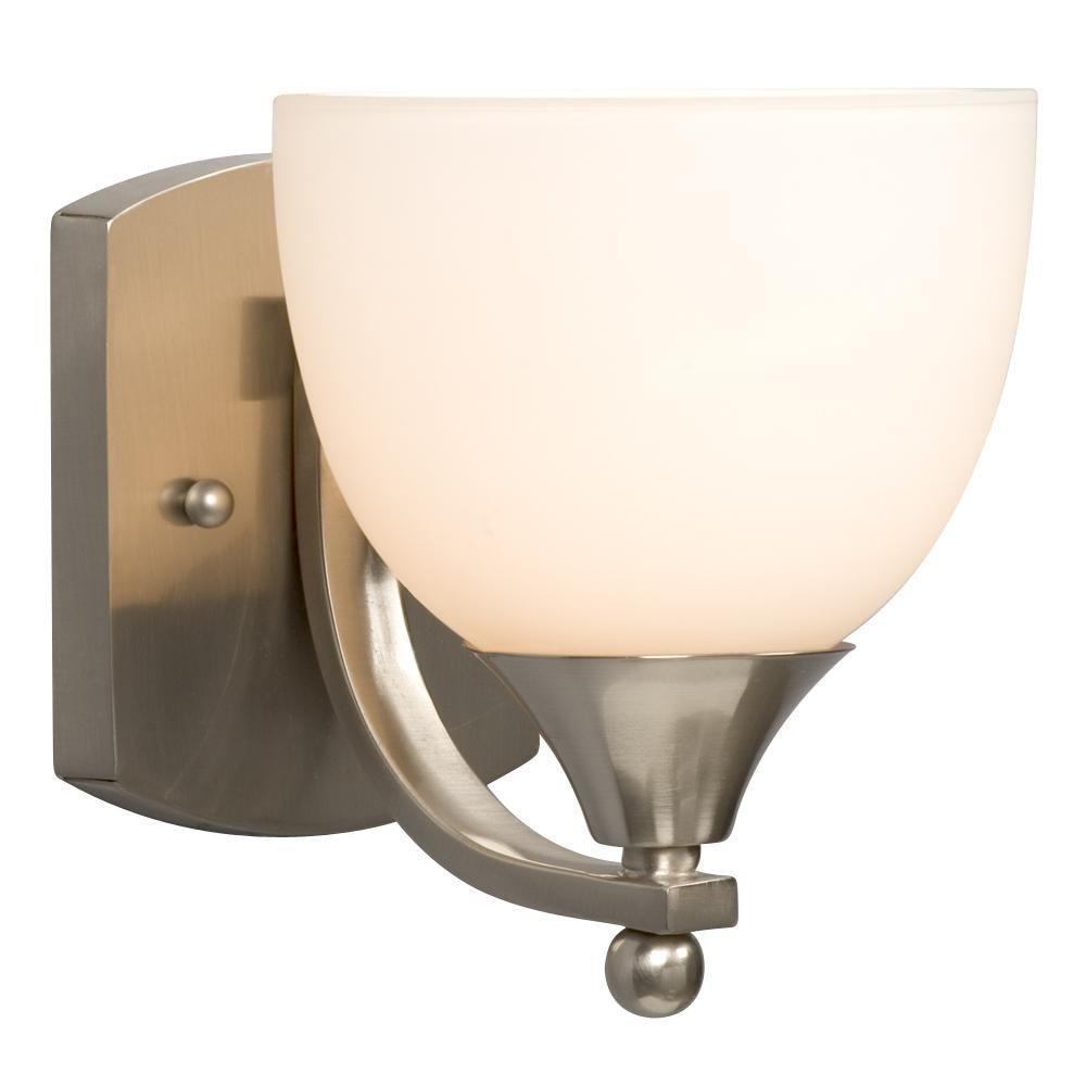 Filament Design Negron 1-Light Brushed Nickel Incandescent Sconce