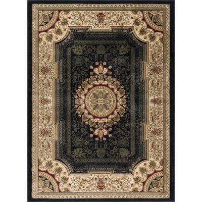 Sensation Black 7 ft. 10 in. x 10 ft. 3 in. Traditional Area Rug