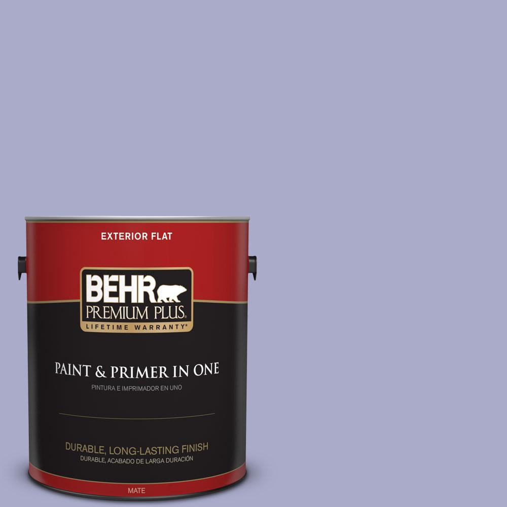 BEHR Premium Plus 1-gal. #M550-4 Wisteria Blue Flat Exterior Paint