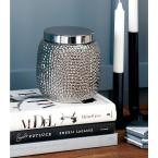 5 in. x 6 in. Modern Gold and Silver Ceramic Jars (Set of 2)