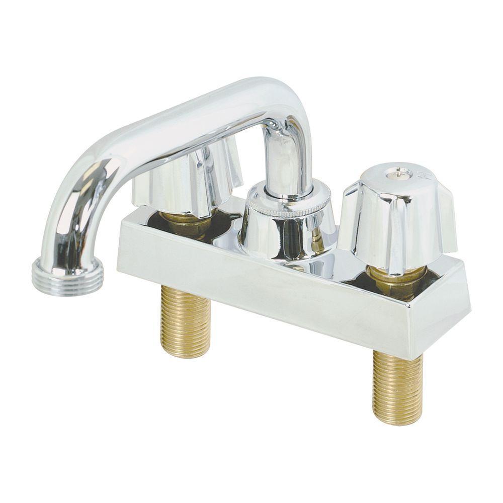EZ-FLO 4 in. Centerset 2-Handle Non-Metallic Bathroom Faucet in ...