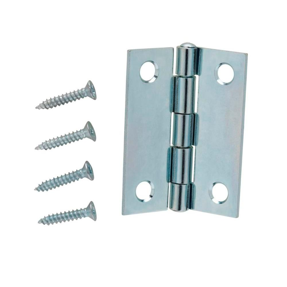 2 in. Zinc Plated Narrow Utility Hinges (2-Pack) -  Everbilt, 15397